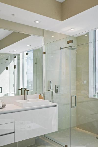 Amrit luxury residences master bath rain shower