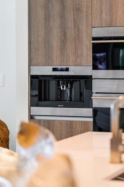 Luxury grade wolf appliances in oceanfront kitchen
