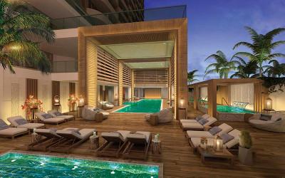 Amrit resort spa plunging pools