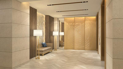 Luxurious resort lobby