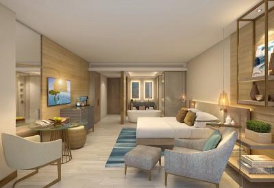 Luxury resort hotel room