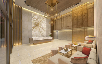 Peace tower private residential lobby