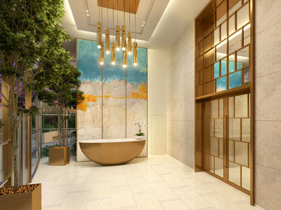 Happiness tower private residential lobby