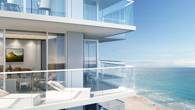 Oceanfront terraces daytime rendering